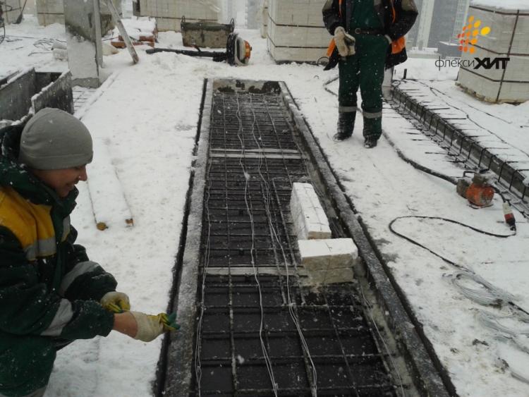 Как и зачем греют бетон зимой