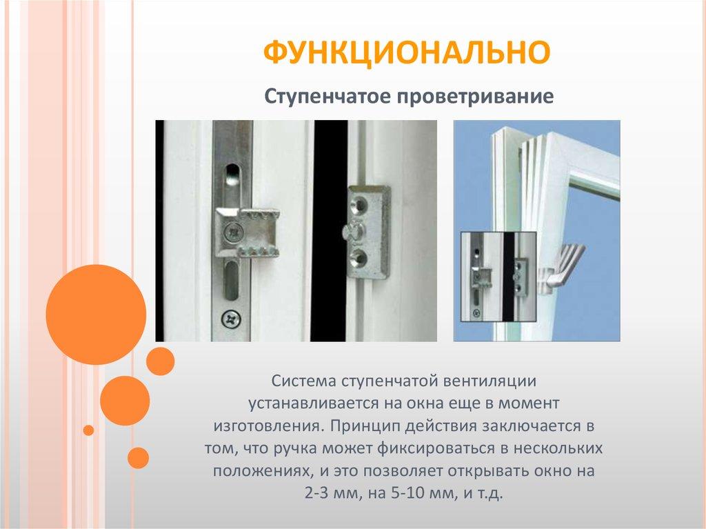 Принцип поворотно-откидного механизма пластикового окна