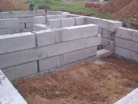 Фундамент из блоков своими руками